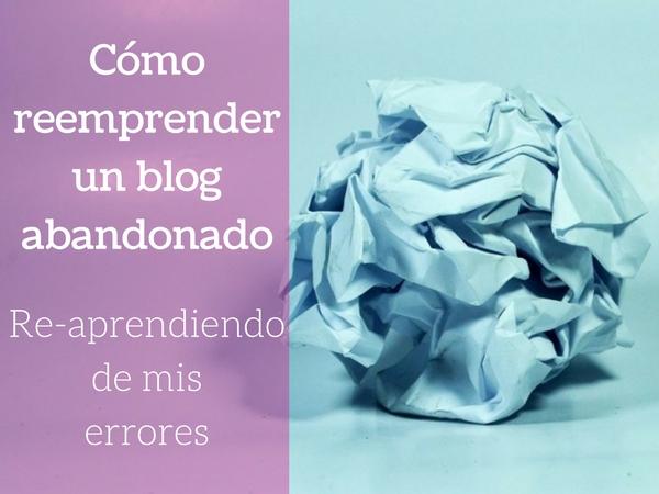 Como retomar la redacción de un blog
