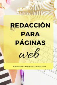 Redacción de contenidos para páginas web
