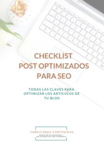 Checklist redacción SEO