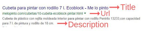 Title y Description en una ficha de producto
