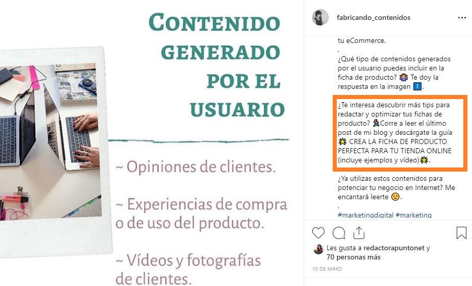 Reutilizar el contenido de tu blog en Instagram