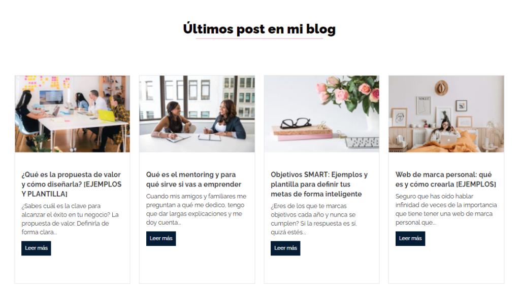 Idear para crear página de inicio en sitio web